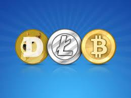 bitcoin litecoin dogecoin image