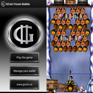 Gcoin bubbles game image